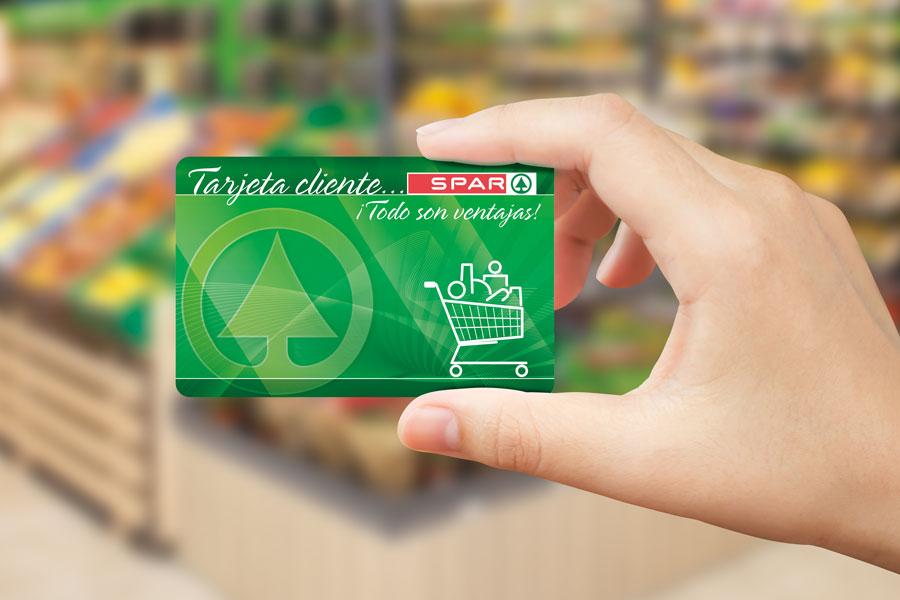 tarjeta cliente en tienda