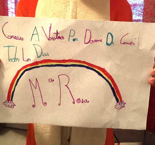 María Rosa, 9 años