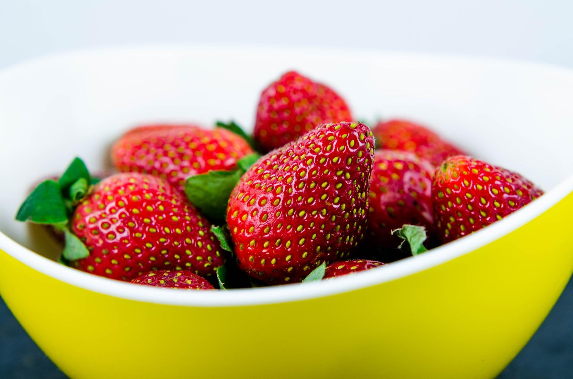 fresas en bol