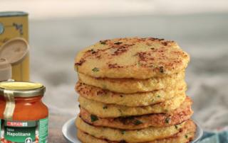 receta de pancake de coliflor